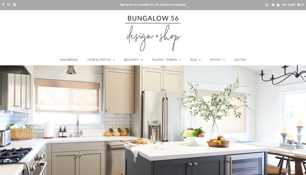 Bungalow 56 - web design inspiration