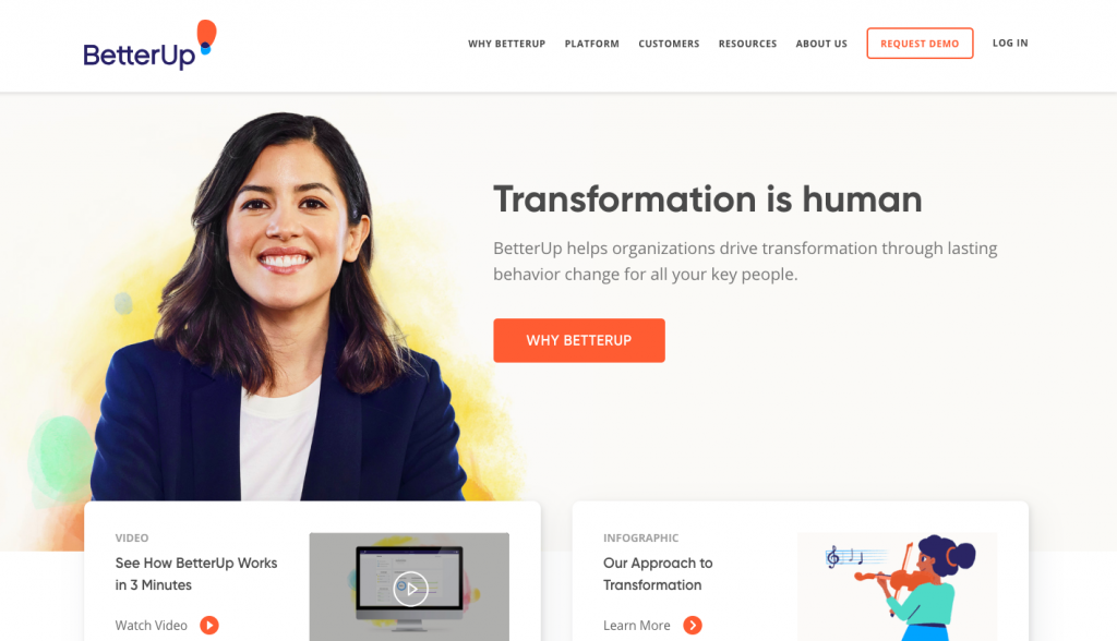 BetterUp - web design inspiration