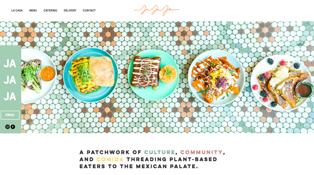 Jaja Mexicanas - web design inspiration