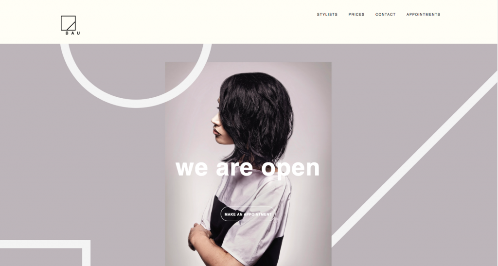 Bau Hair - web design inspiration