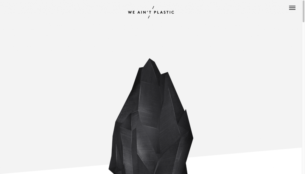 We Ain't Plastic - one-page website example