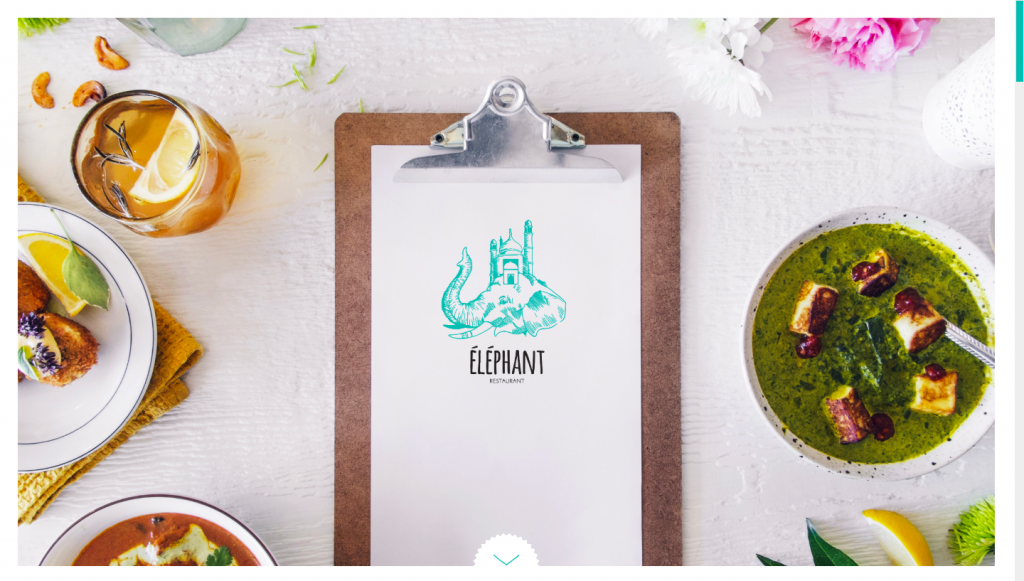 Elephant Restaurant - one-page website example