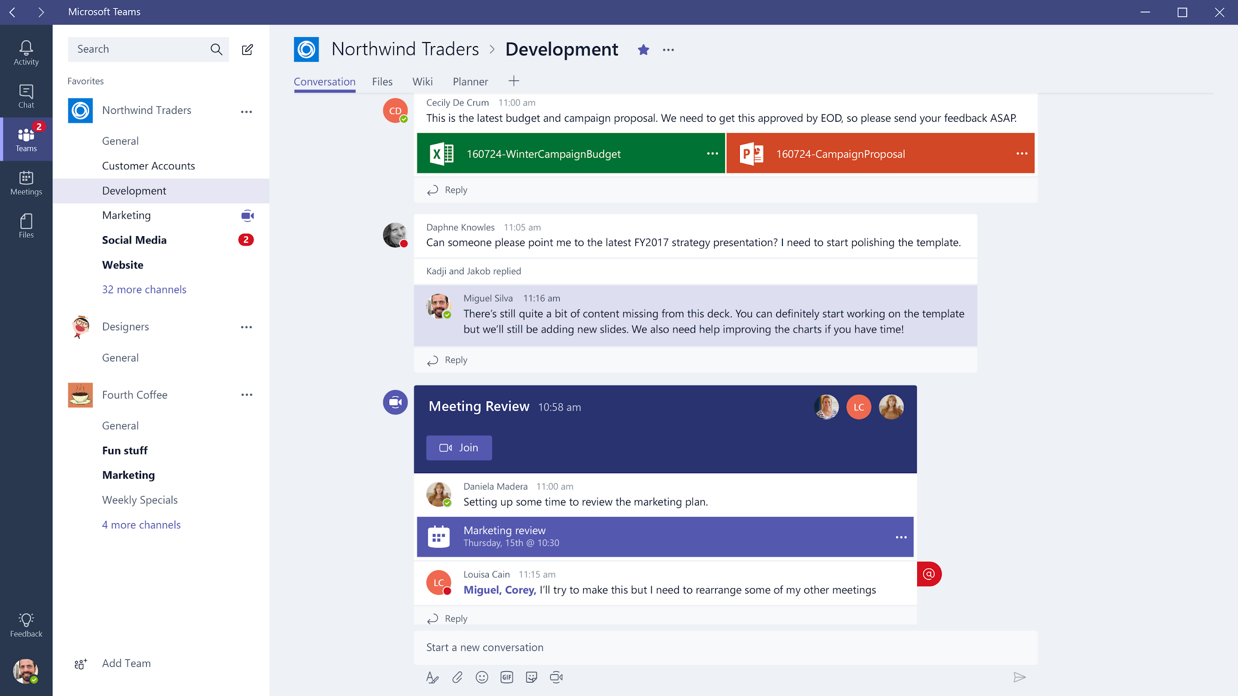 Microsoft Teams Group Chat - slack alternatives