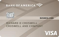 Bank of America Platinum Visa Business credit card
