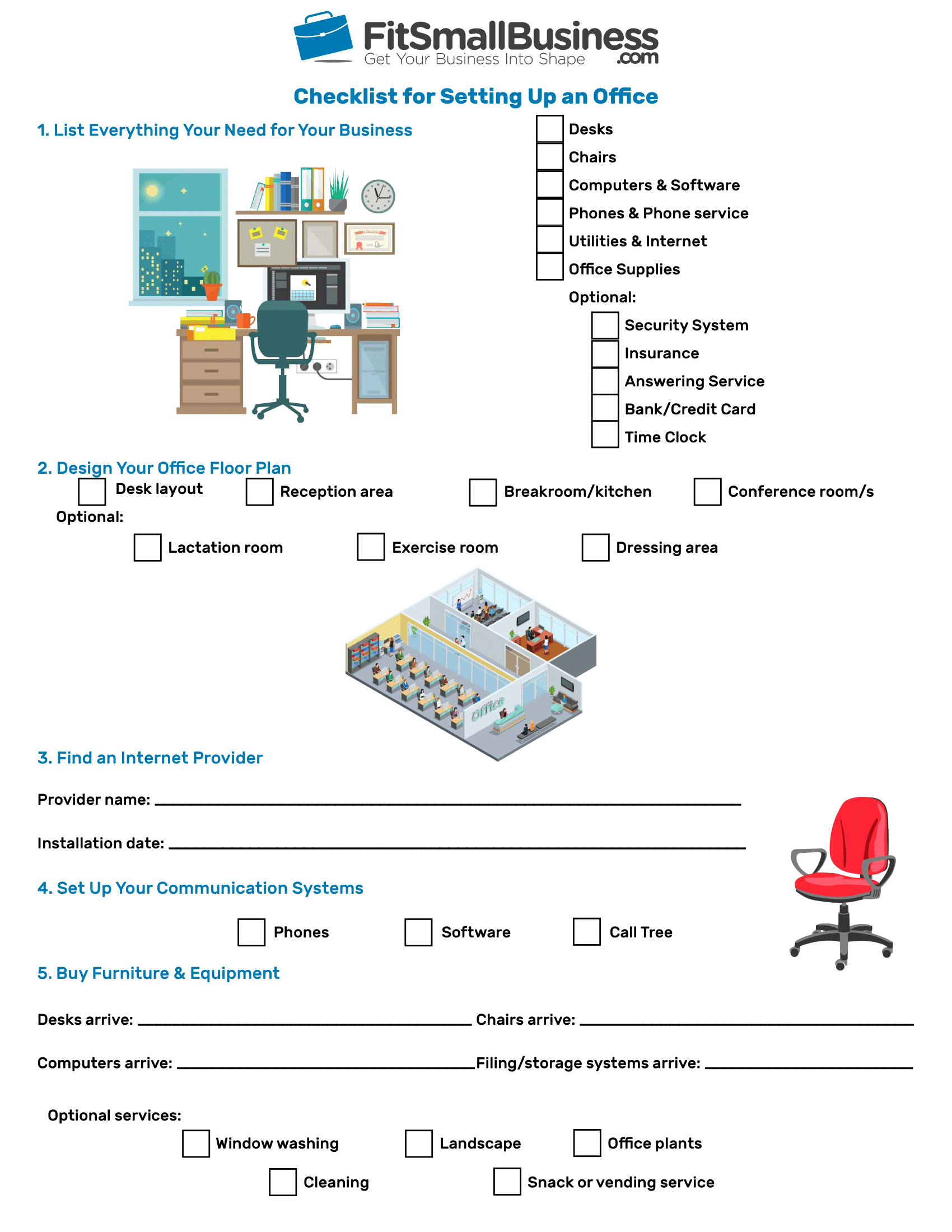 Setting Up an Office in 5 Steps [+Free Checklist]