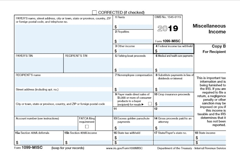 Screenshot IRS Form