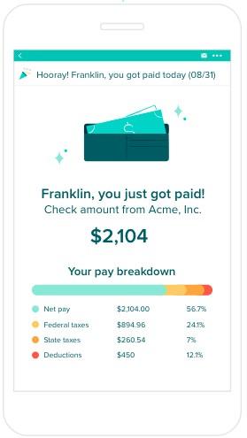 Screenshot of Gusto Pay Notification