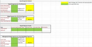 Screenshot of Payroll Expense Analysis