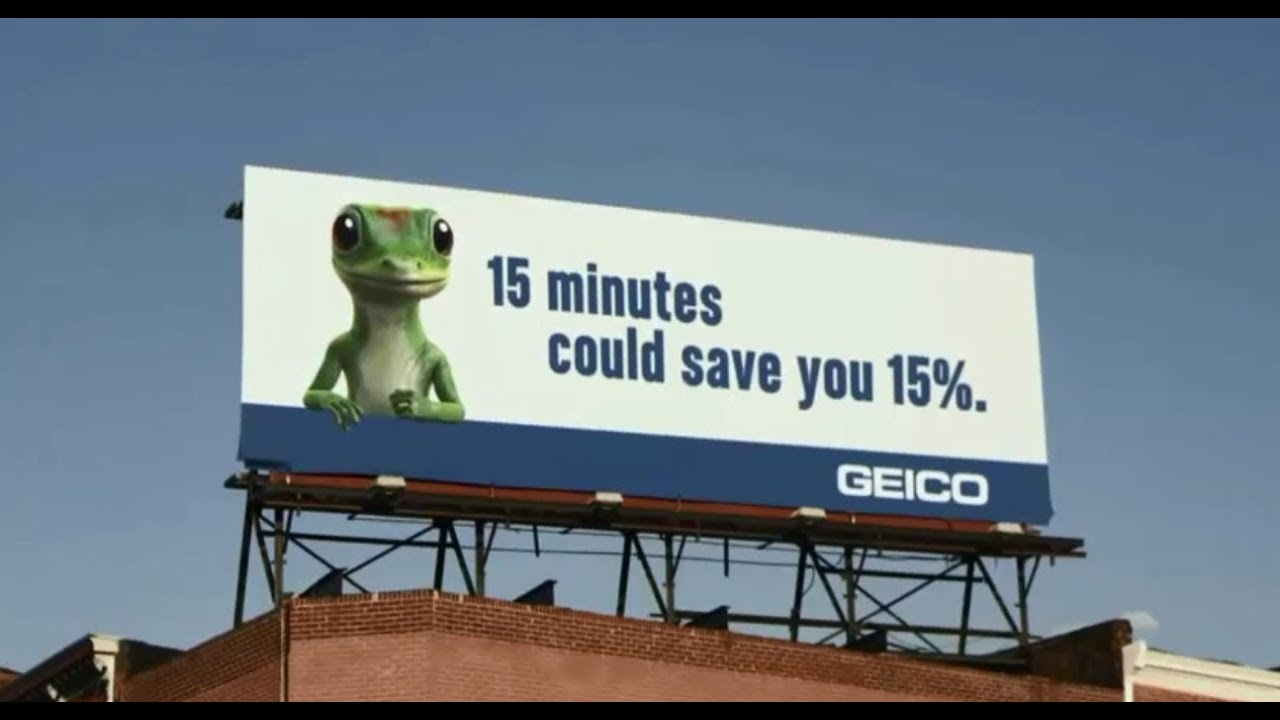 Geico unique selling proposition on a billboard