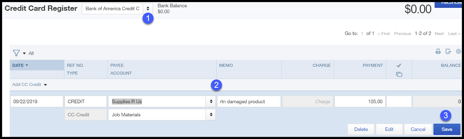 How to Enter a Credit Card Refund in QuickBooks Online