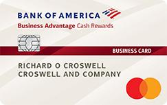 Bank of America® Business Advantage Cash Rewards Mastercard® - business credit Cards for Startups