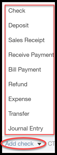 photograph relating to Free Printable Check Register With Running Balance known as How towards Input Lender Transactions within QuickBooks On-line Manually