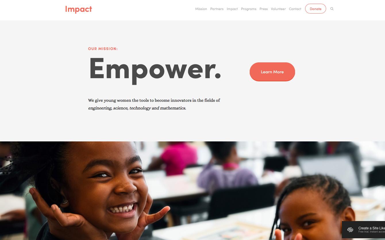 Impact - best squarespace templates