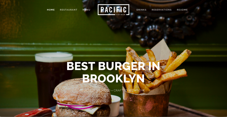 Pacific - best squarespace templates