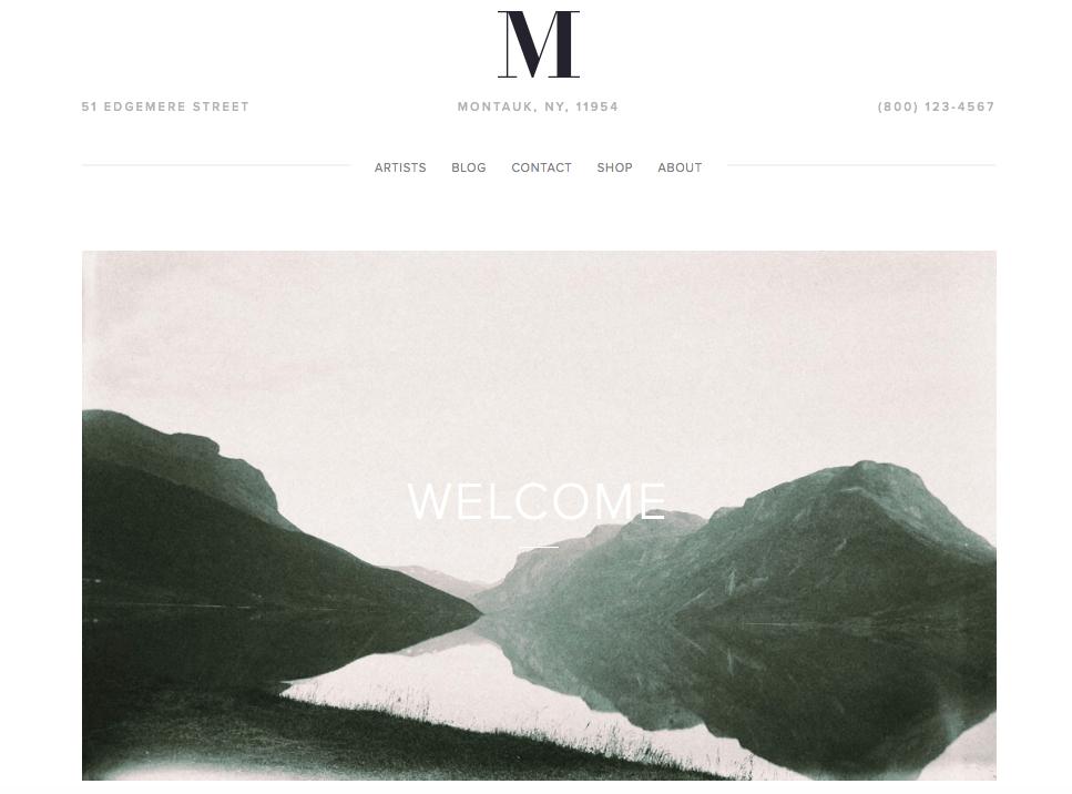 Montauk - best squarespace templates