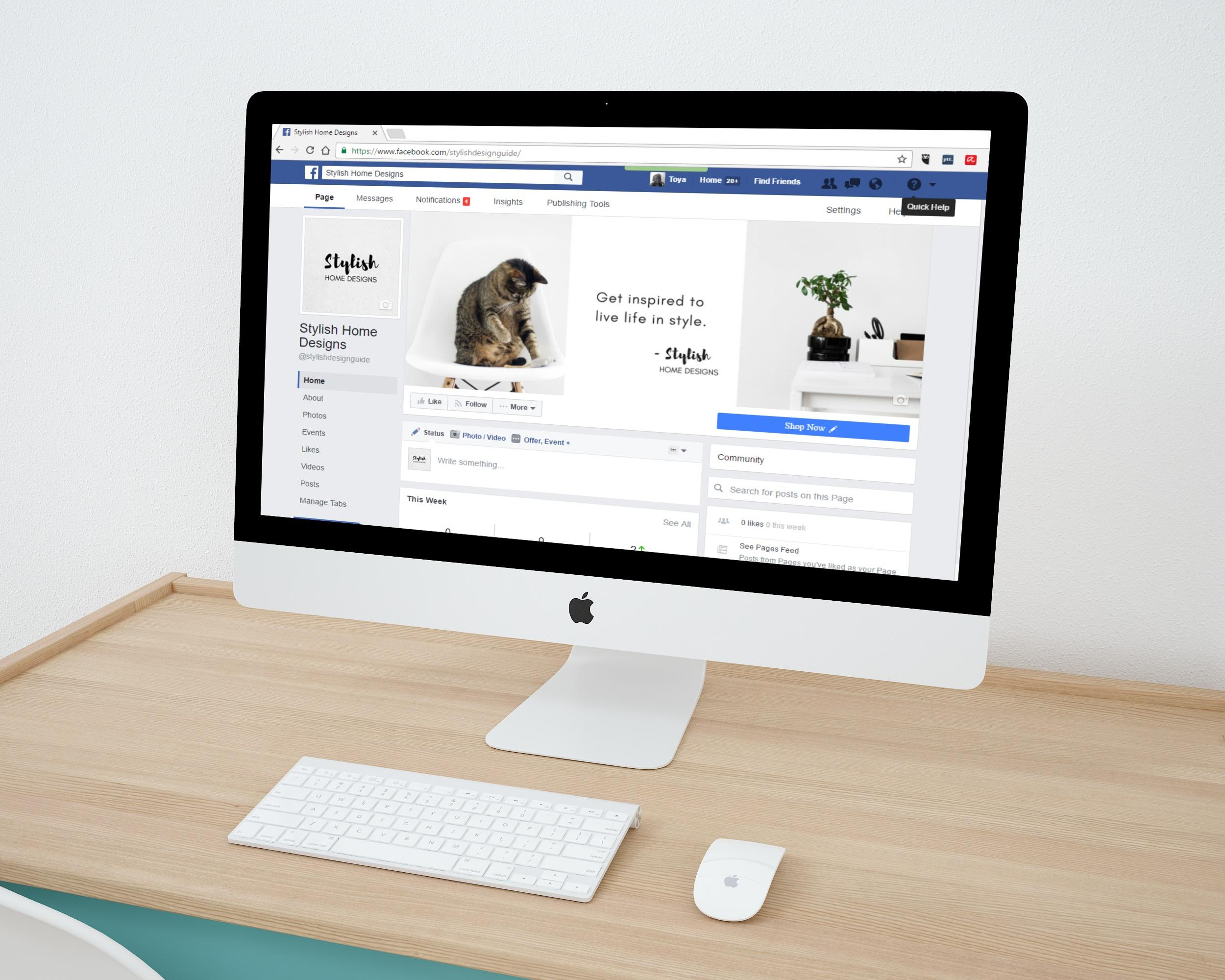 Facebook business page products