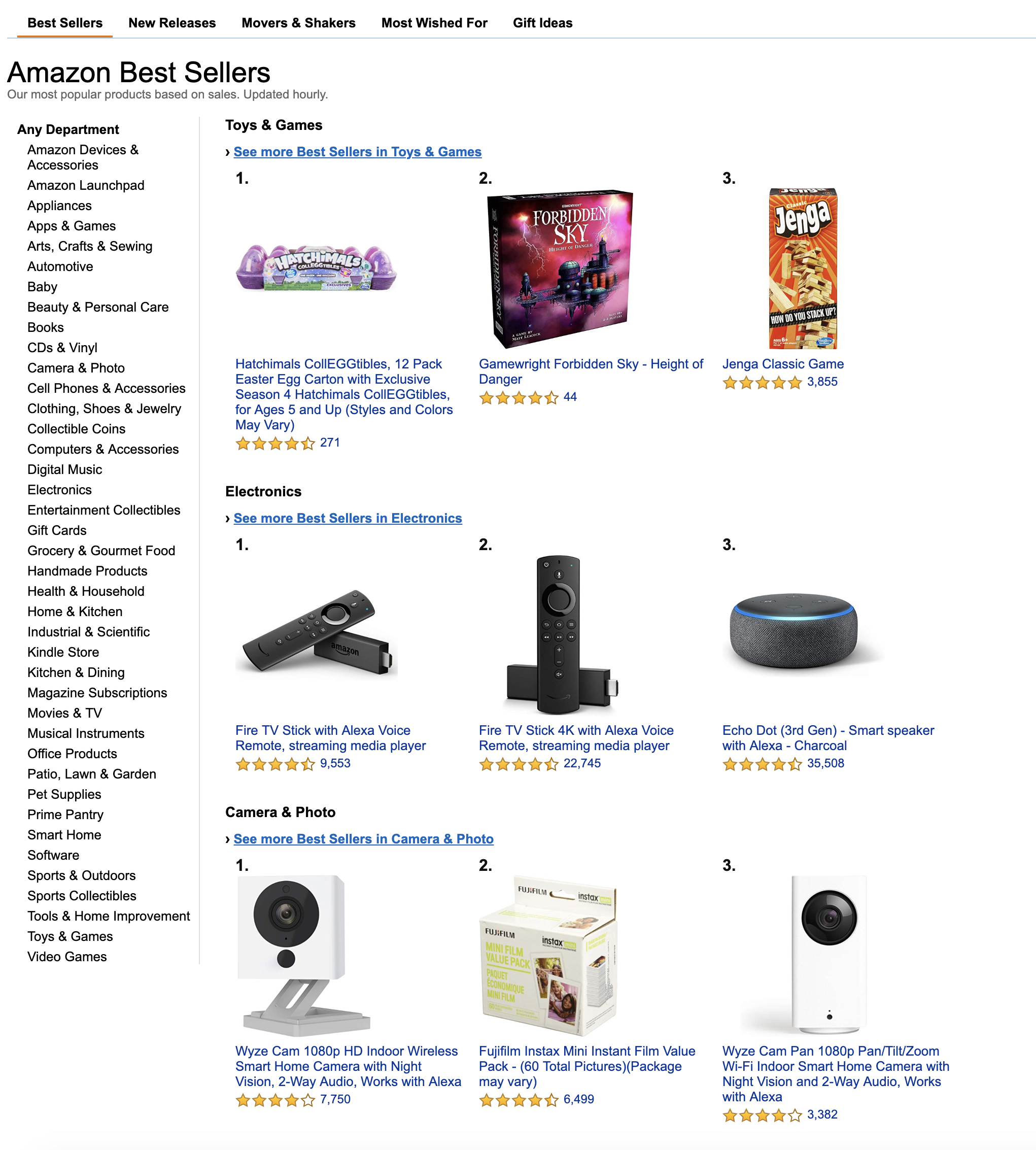 Amazon Best Sellers List