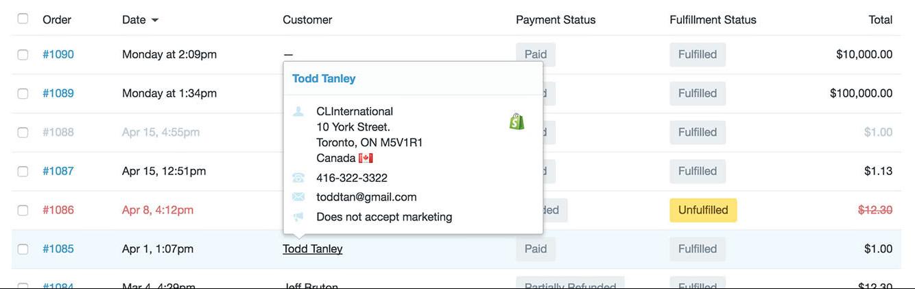 shopify's detailed order management system