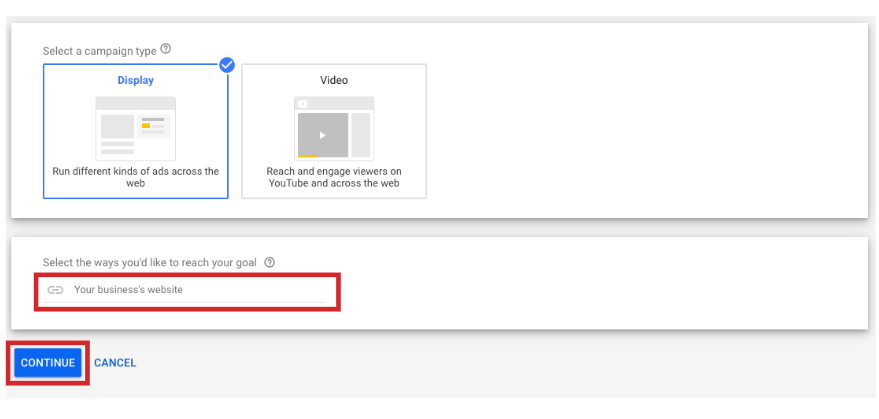 creating a display in google ads