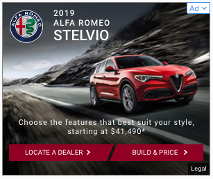 Example of an alfa romeo web banner ad