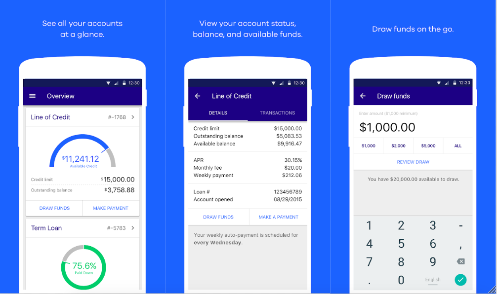 OnDeck mobile app - what is a business line of credit