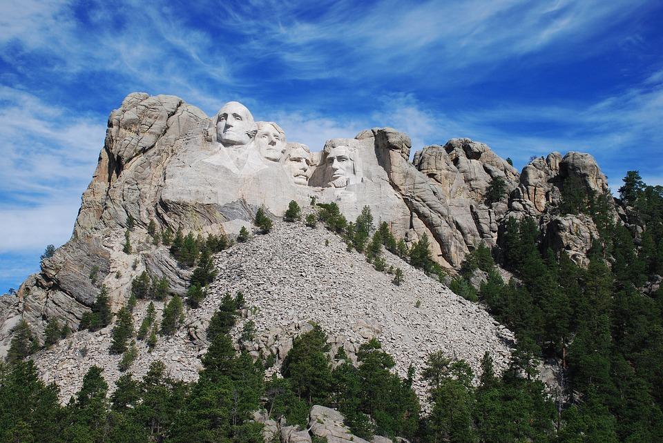 photograph of Mount Rushmore, South Dakota