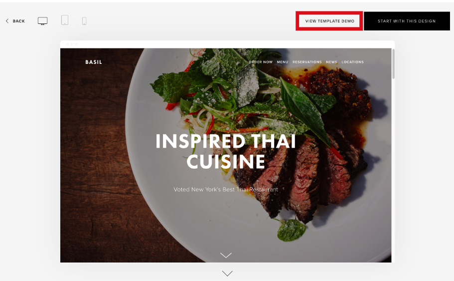 highlight of how to Demo Squarespace Templates