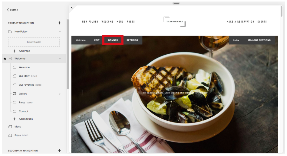 Replace Homepage Image on Squarespace