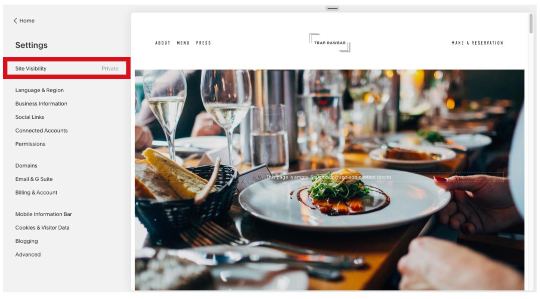 Publish a Squarespace Website