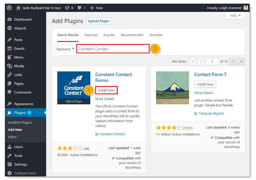 plug-in WordPress a contatto costante