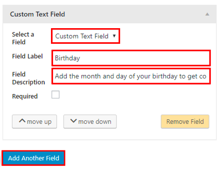 Constant Contact custom fields
