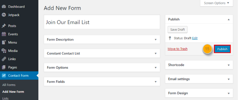 Constant Contact email list