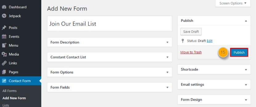Elenco e-mail di contatto costante