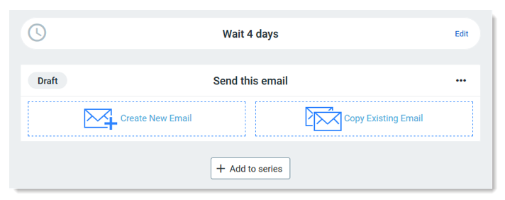 Constant Contact new email series