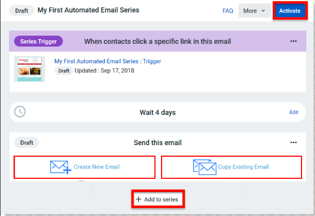Constant Contact activation page