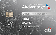 CitiBusiness Platinum Select American Airlines AAdvantage credit card