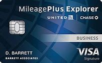 Chase United Mileage Plus Explorer Business credit card