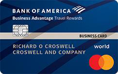 Bank of America Business Advantage Travel Rewards World Mastercard