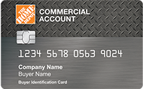 Home Depot Commercial Account Card: