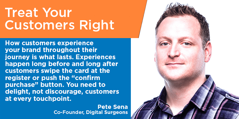 Pete Sena - customer service tips