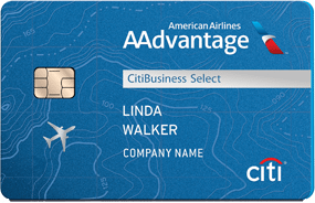 CitiBusiness / AAdvantage Platinum Select World Mastercard - business credit cards that don't report to personal credit