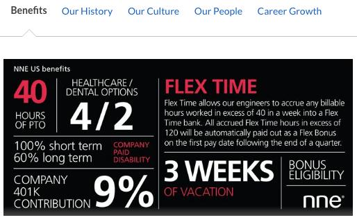 Employee branding-related benefits ad on Glassdoor