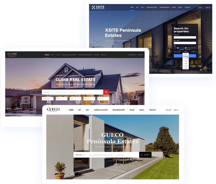 Different Chime Real Estate Website Builder templates