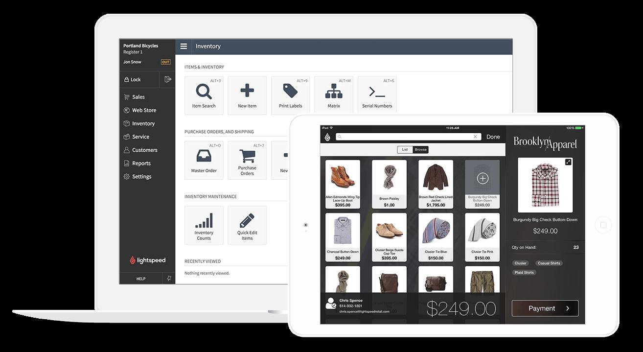 Lightspeed Retail pos system inventory dashboard