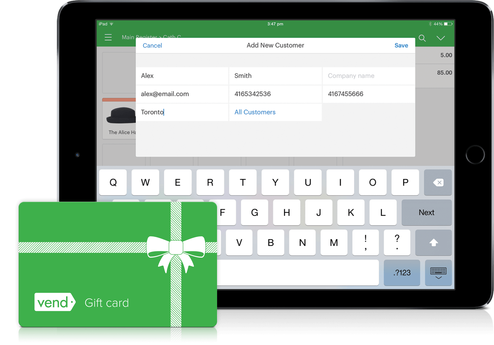 Vend POS loyalty and gift card features