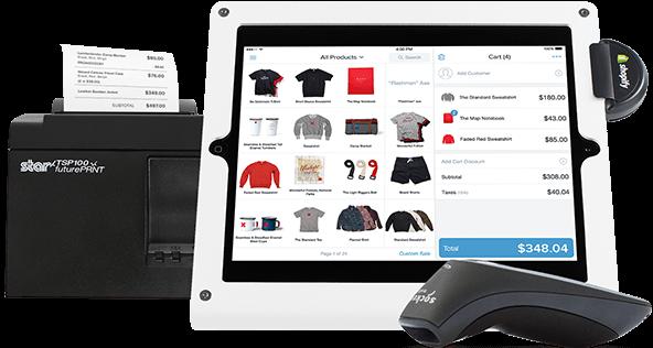 Mockup of Shopify POS app interface