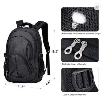 Black school backpack
