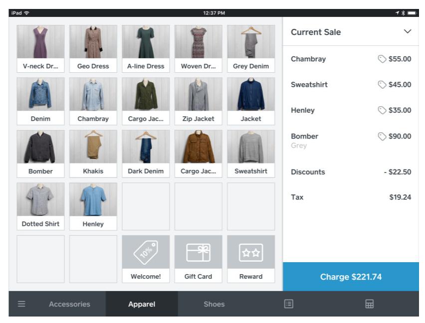 Square POS app inventory management