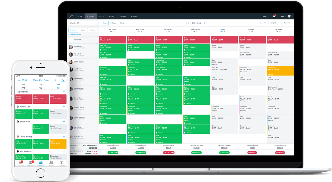 Planday restaurant scheduling software - restaurant scheduling software