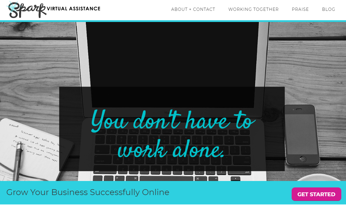 Spark virtual assistance home page